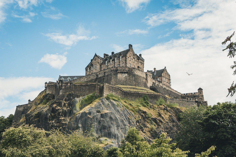 Edinburgh castle is a popular destination for backpackers
