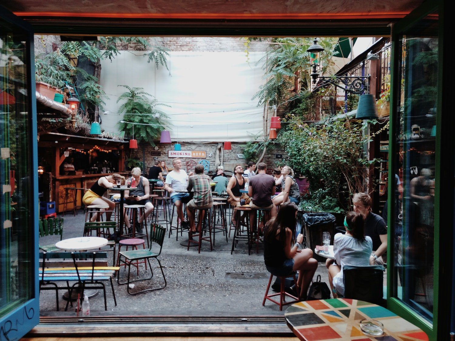 Szimpla Kert is a popular place for backpackers in Budapest