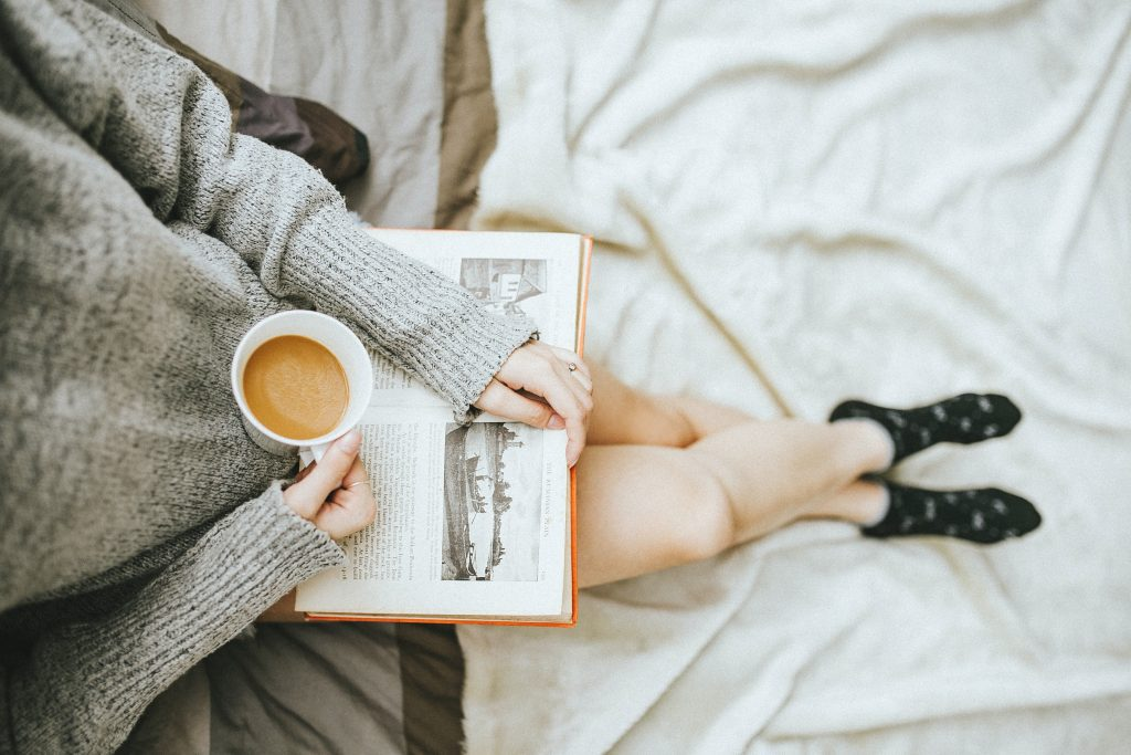 Reading is a great pastime for travelers in hostels