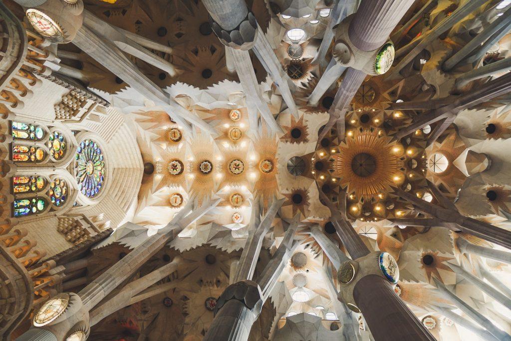 La Sagrada Familia in Barcelona is a popular destination for backpackers