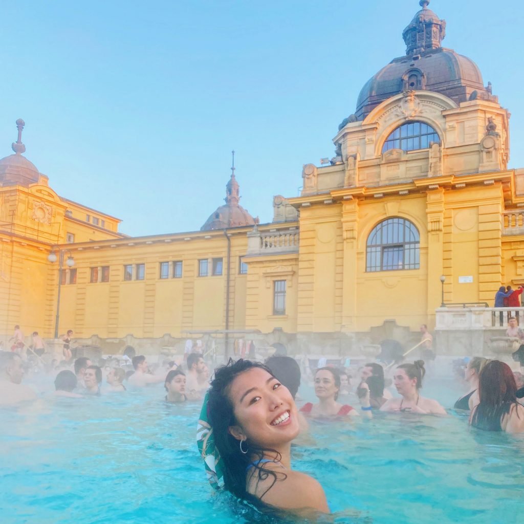Szechenyi Baths in Budapest are popular for backpackers