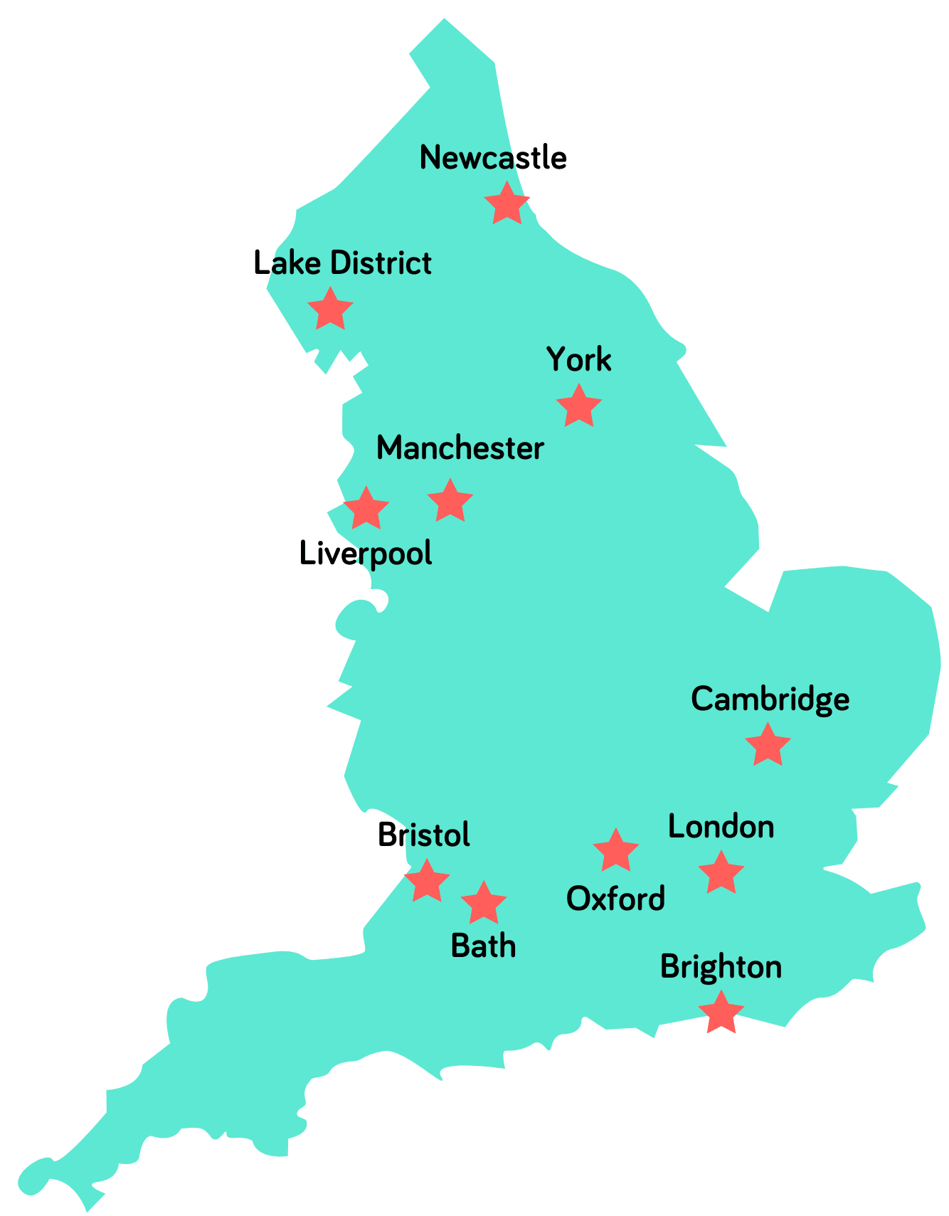 UK Pass Map of Locations